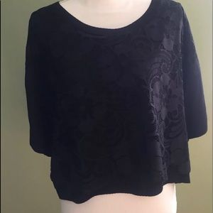 Nanette Lepore woman Black top L short sleeves